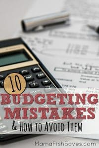 10 common budgeting mistakes and how to avoid them