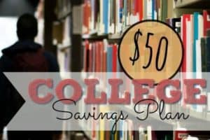 How to save for college 50 at a time