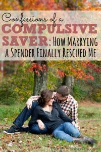 How my spender husband helped me let go enough to enjoy life, while still reaching our goals.