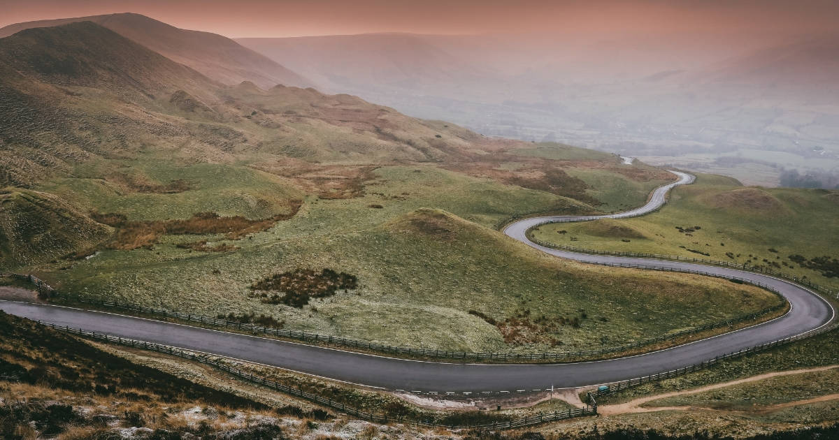 roadmap to financial health winding road in fog
