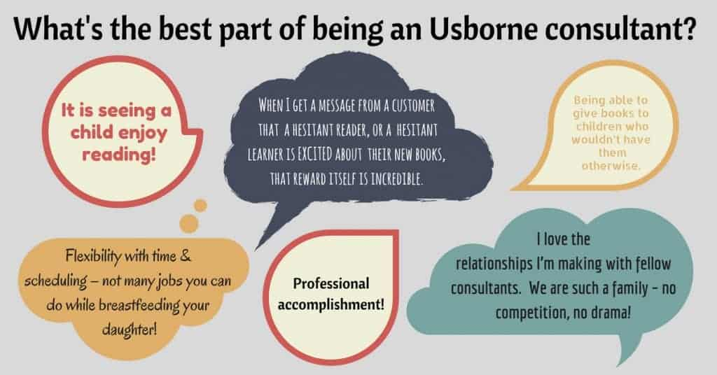 What is the best part of being an Usborne consultant