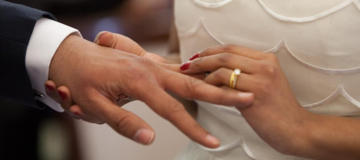 exchanging wedding rings is a step toward merged finances