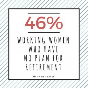 46% of working women have no plan for retirement