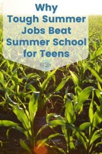 Why teenagers should work summer jobs, the tougher the better