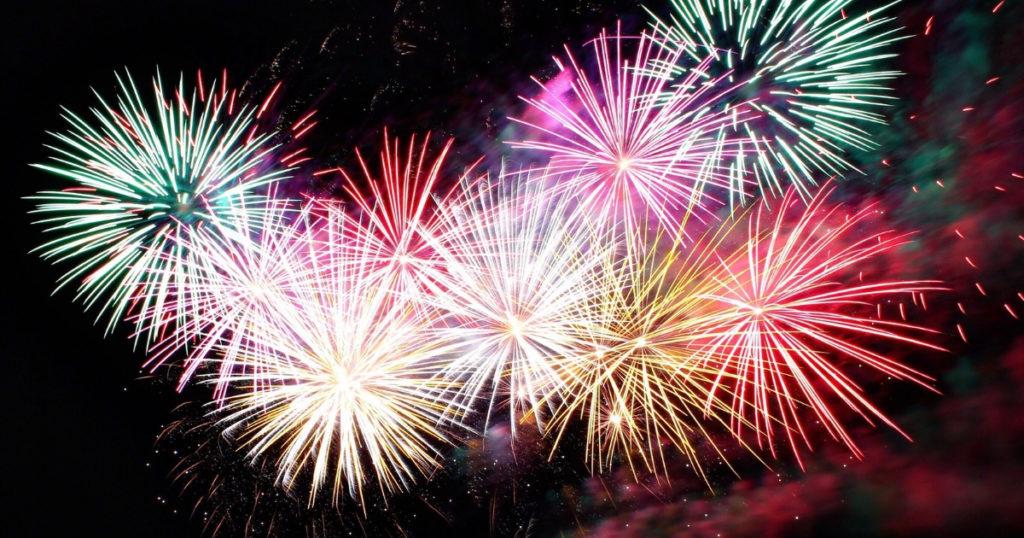 fireworks celebrating financial freedom