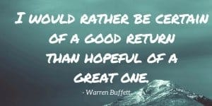Warren Buffett index investing quote