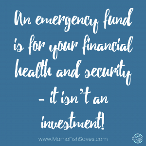 Emergency fund for your financial health and security