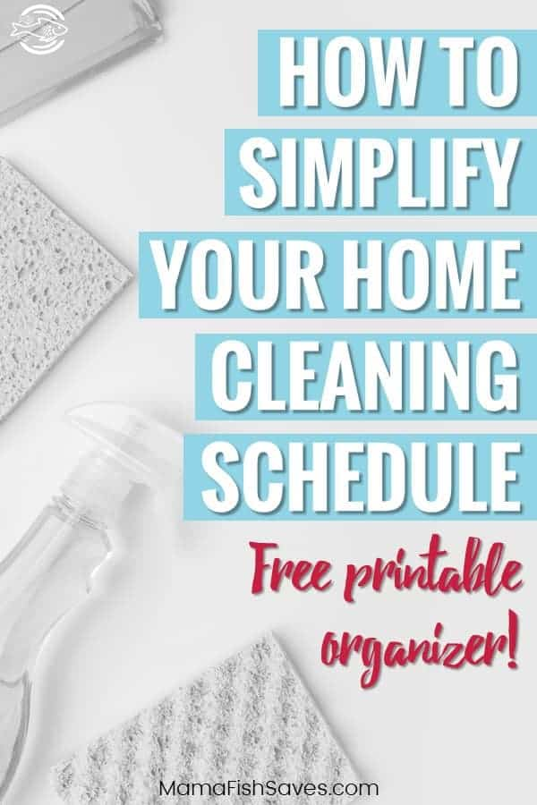 Complete home cleaning schedule for busy parents