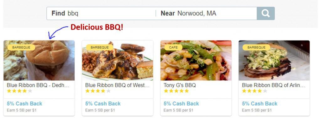 Swagbucks Local rewards listing