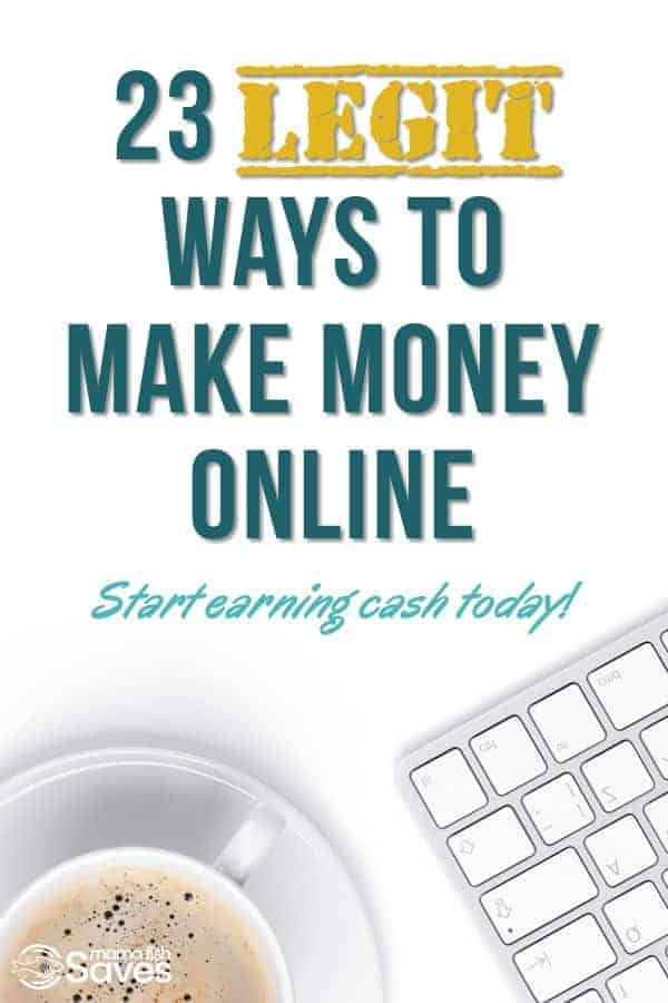 Legitimate ways to make money online without upfront costs