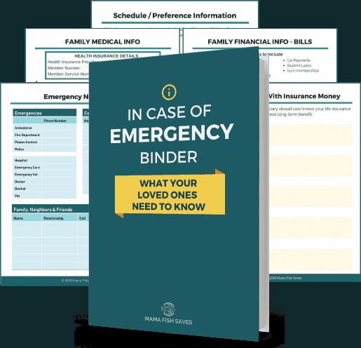 Family In Case Of Emergency Binder