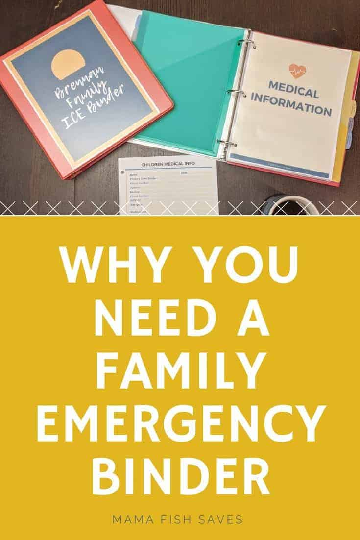 Why you need an emergency binder