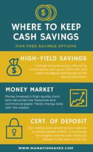 Where to keep cash savings - Infographic