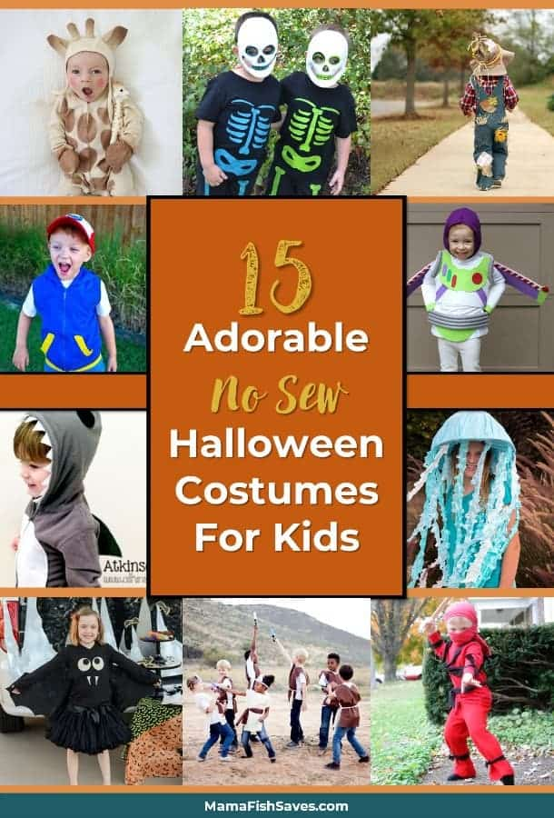 Best cheap no sew Halloween costumes for kids | DIY Halloween costumes #halloween #diycostume