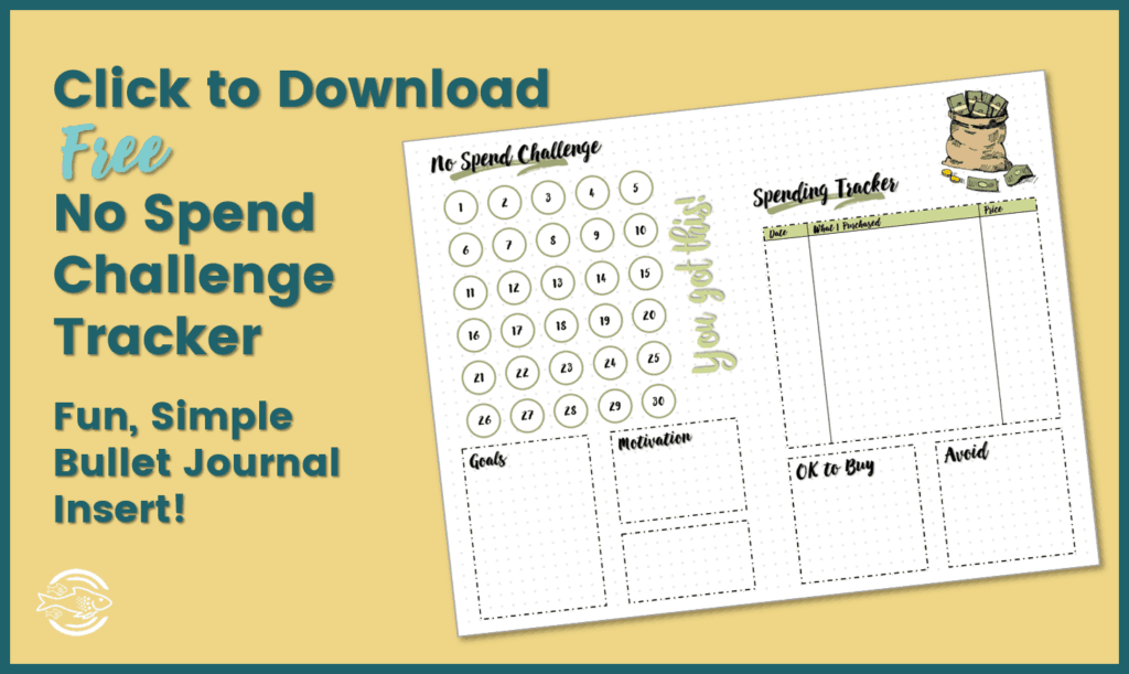 Free No Spend Challenge tracker
