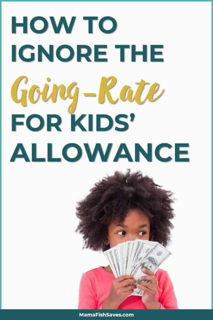 How to ignore the going-rate for kids allowance
