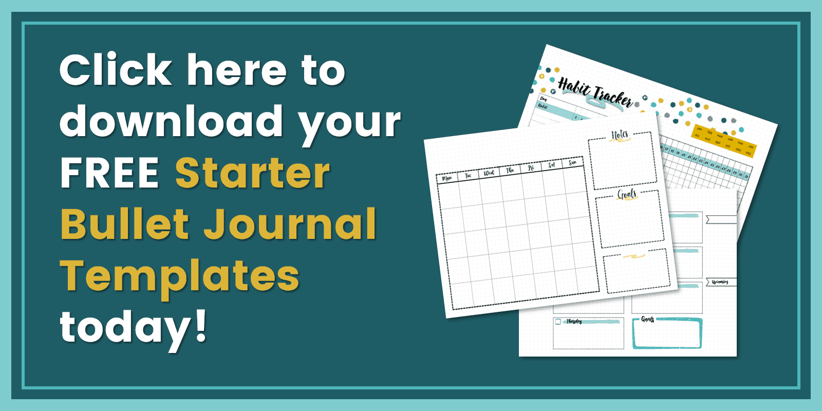 Free bullet journal layout printables