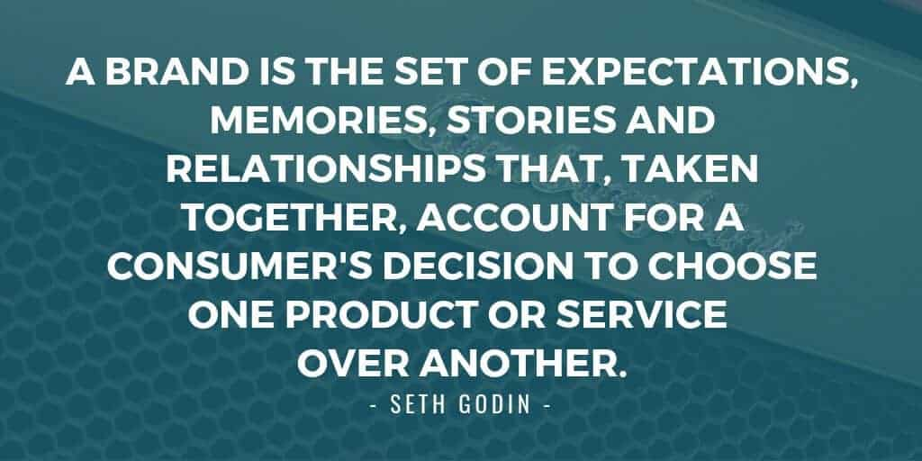 Seth Godin branding quote