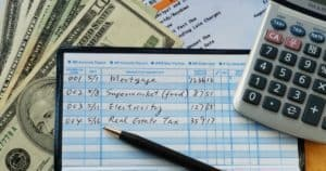 Keeping transactions in a checkbook