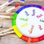 Color matching wheel to teach kids their colors