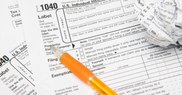 tax form 1040 for U.S. individual income