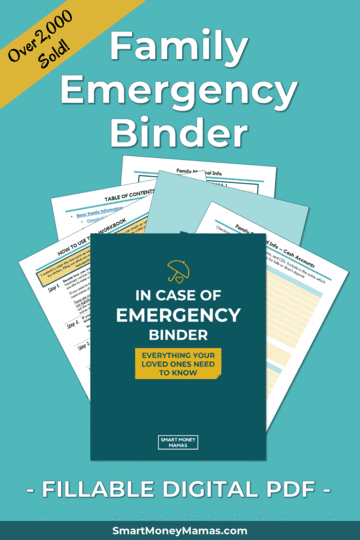 Prepare your family for any emergency, disaster, or death by organizing all your important documents and information - including emotional legacy and tradition - in one place! #emergencybinder #prepping #family