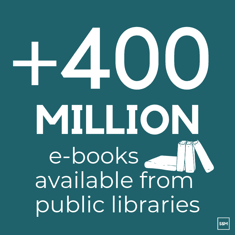 Libraries had over 400 million e-books available to borrow in 2017