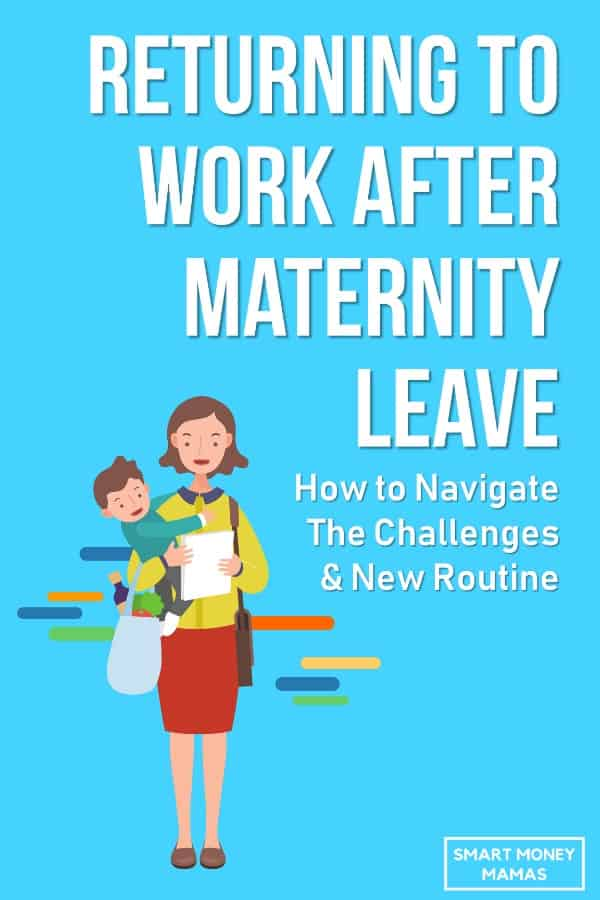 I'm due with my first baby soon and I'm so nervous about having to go back to work after she's born. This was eye-opening and a good reminder that I'm not alone and that I can get through returning to work after maternity leave! Pinning for later when my #mombrain isn't functioning in a few months. #workingmom #maternityleave #newmom #careertips #smartmoneymamas