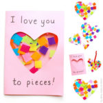 Valentine's Crafts for Kids I love you to pieces card