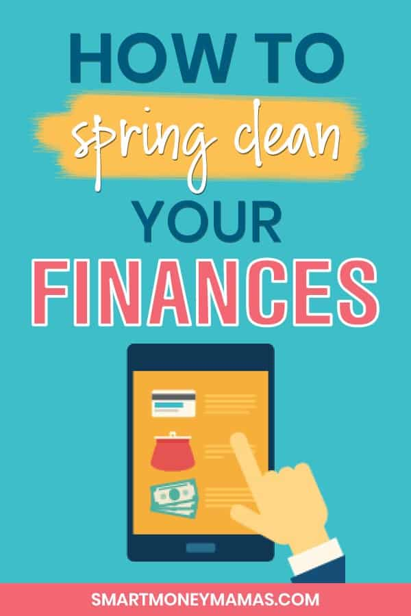 how to spring clean your finances tablet looking at finances