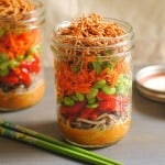 Mason Jar Asian Noodle Salad