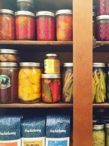 Canned foods stored for winter