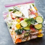 Chicken and veggie freezer packs