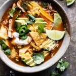 Crockpot Spicy Chicken Tortilla Soup