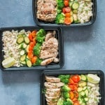 Meal Prep Lemon Chicken with Cilantro Brown Rice
