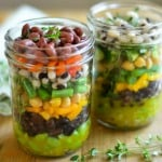 Mason Jar 7 Bean Salad Meal Prep Lunch