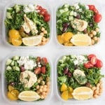 Kale and Quinoa Greek Salad Meal Prep