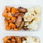 Simple One Pan Sausage and Veggies in Meal Prep Containers