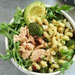 Pesto Pasta Chicken Salad Meal Prep Bowls