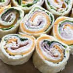 Turkey and Cheese Pinwheels Make Ahead Lunch