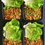 Meal prep chicken lettuce wraps