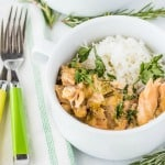 Crockpot Slow Cooker Chicken Thighs with Green Chiles