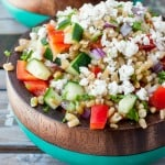 Healthy Greek Freekeh Salad