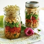 Sprouted Spring Salad in a Mason Jar