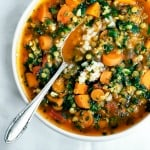 Vegan Carrot, Red Lentil, and Spinach Soup