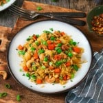 Easy vegan pineapple fried rice