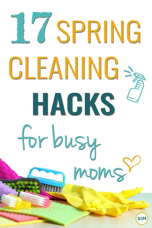 Wish you had time to actually do some spring cleaning? Check out these spring cleaning hacks that will make it quicker and easier to get done! #springcleaning #cleaninghacks #cleaningschedule #smartmoneymamas