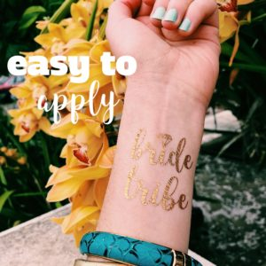 "Easy to apply ""bride tribe"" temporary tattoos"