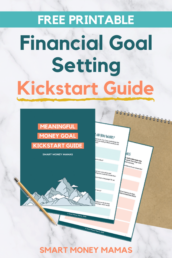 Want to set meaningful money goals you can stick to? These money goal setting worksheets will help you identify what you really want and the steps you need to take to get there. Enter your name and email to download your guide today! #moneygoals #resolutions #printables #freeworksheet #smartmoneymamas