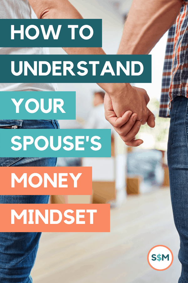 Understanding your spouse\'s money mindset is a must for handling your finances as a team. These tips for starting positive money conversations with your partner will help you get on the same page as a couple and make it easier to reach all your financial goals. #couplemoney #moneymindset #moneygoals #smartmoneymamas